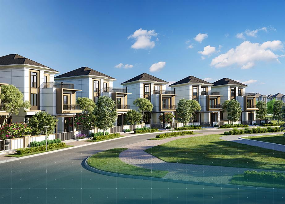 Mau nha biet thu Aqua city grand villas